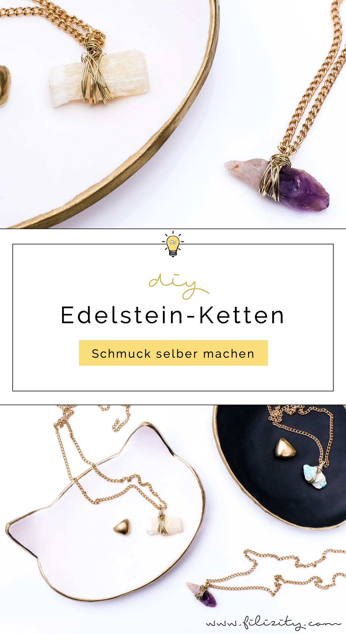 Schmuck selber machen: DIY Edelsteinketten | Filizity.com | DIY-Blog ...