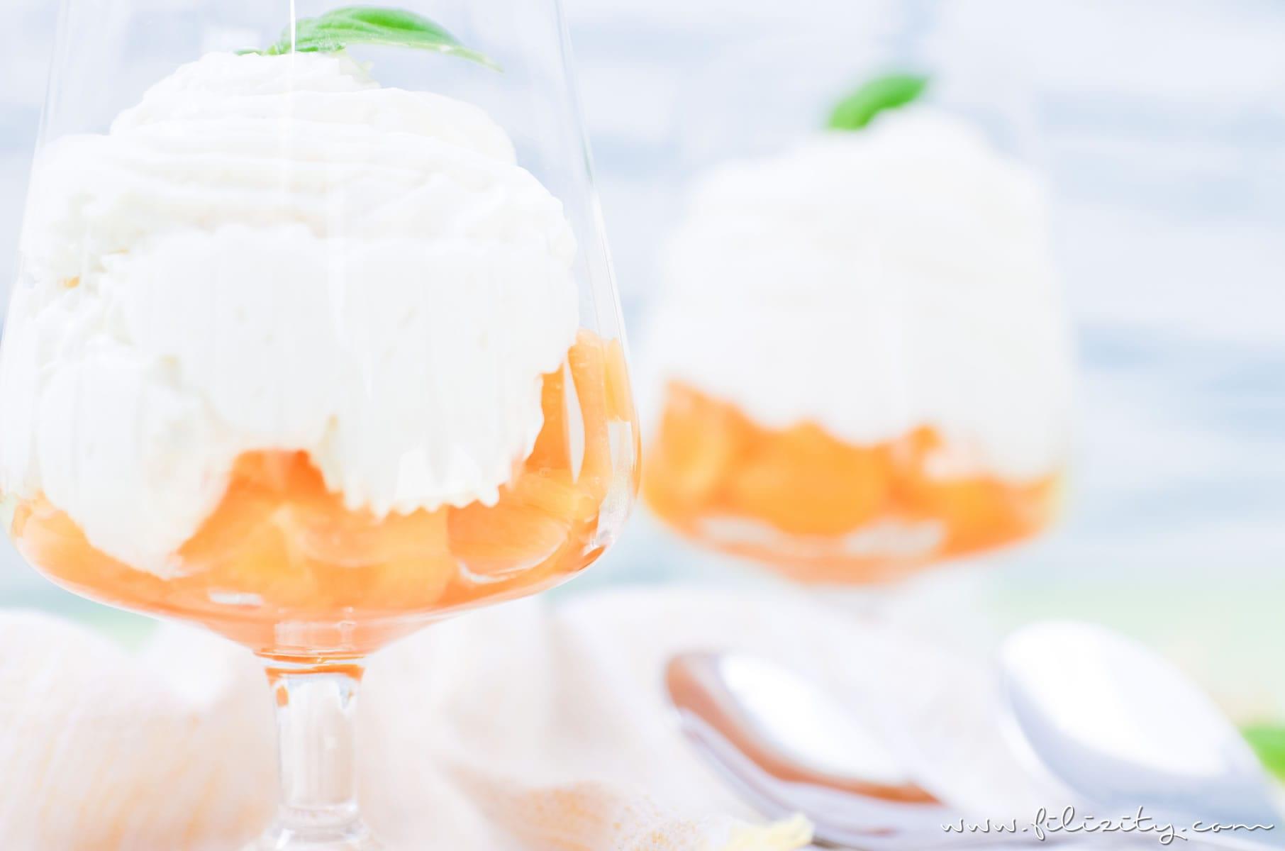 Himmlisches Dessert-Rezept: Mascarpone-Creme mit Aprikosen | Filizity.com | Food-Blog aus dem Rheinland #ostern #dessert #lastminiute