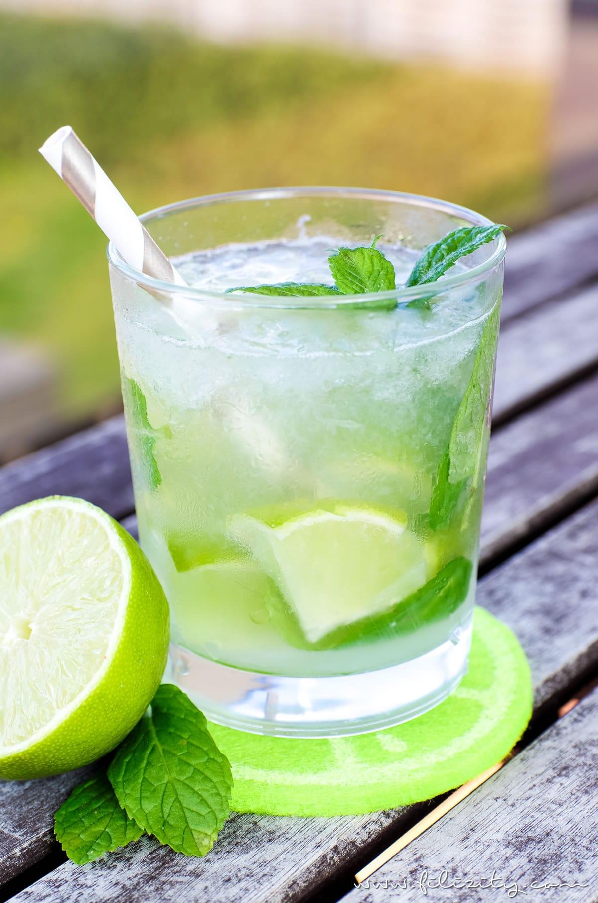 Cocktail Mit Minze Und Limette