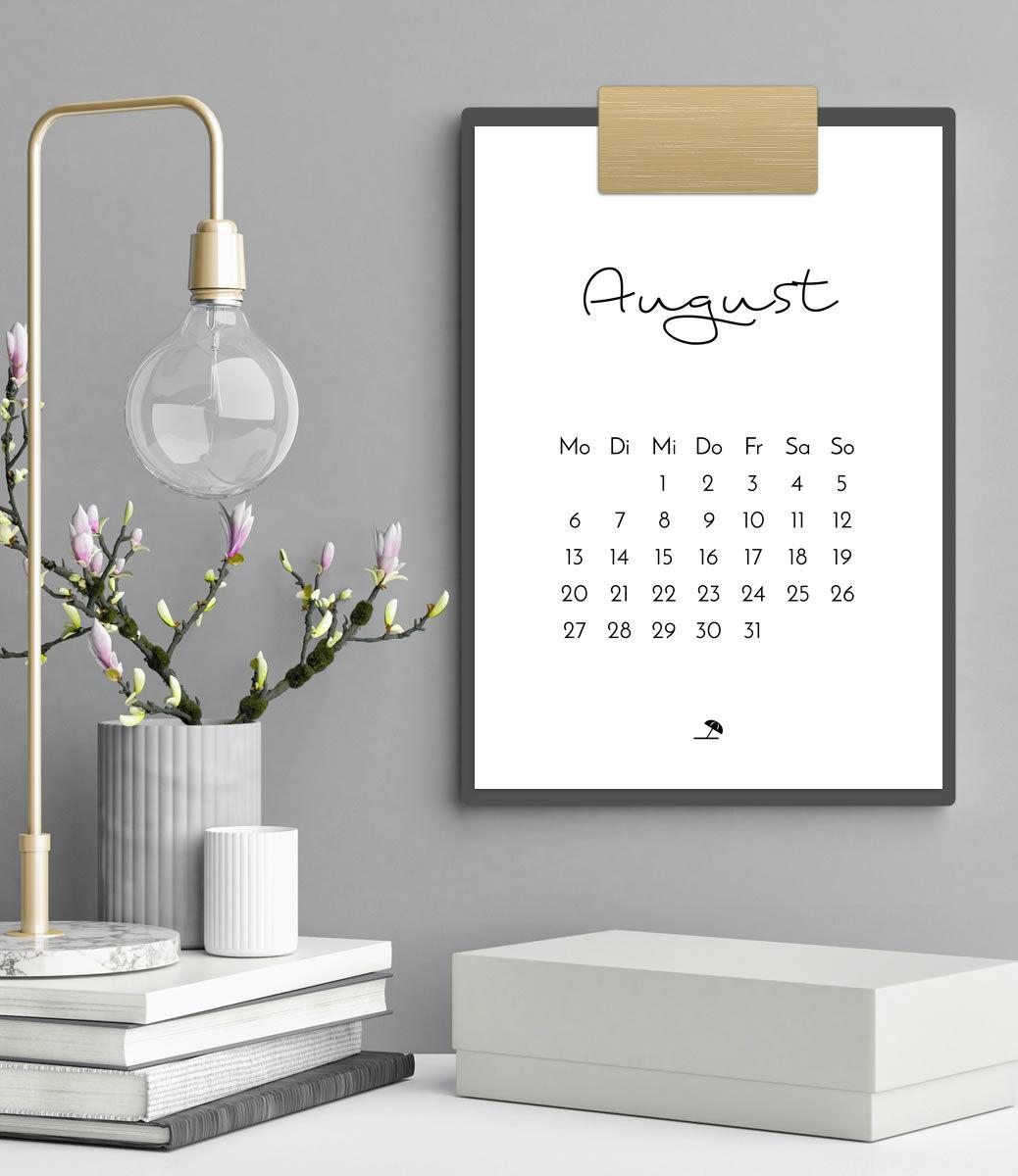 Minimalistischer Kalender 2018 (Druckvorlage/Printable, A4) | Filizity.com | Interior- & DIY-Blog und Shop