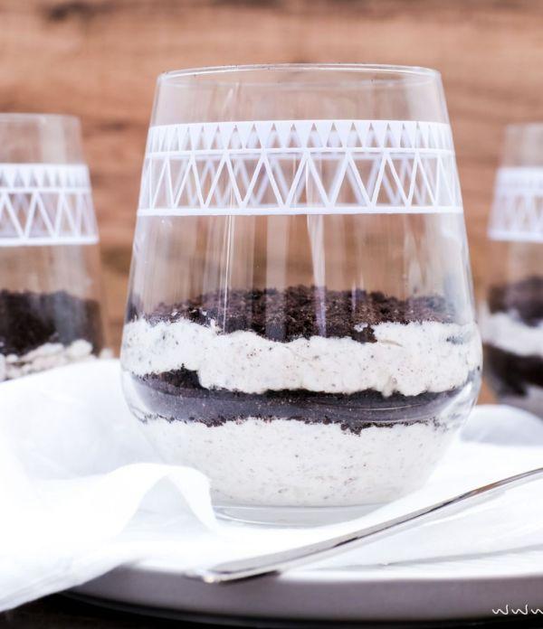 No bake Oreo Cheesecake Schichtdessert im Glas