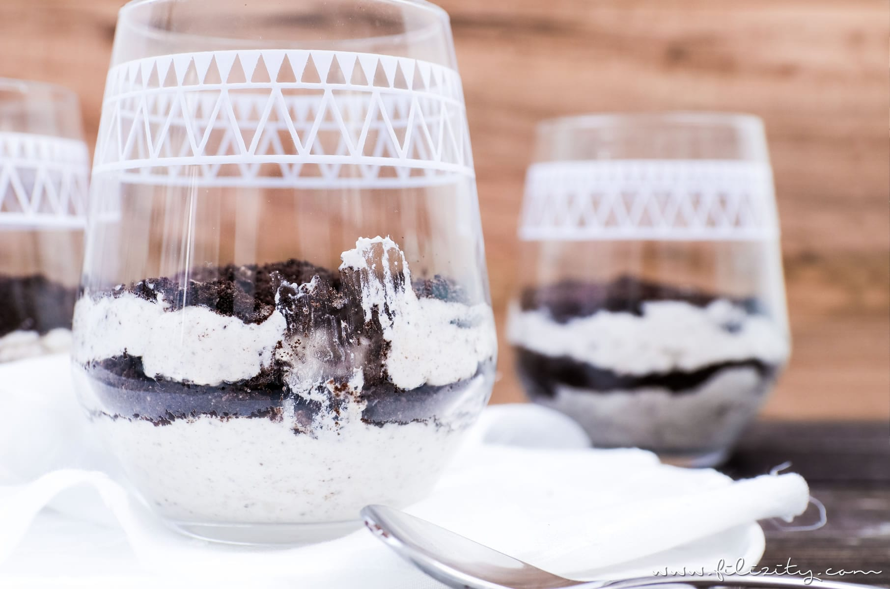 No Bake Oreo Cheesecake Schichtdessert Im Glas Filizity Com Food