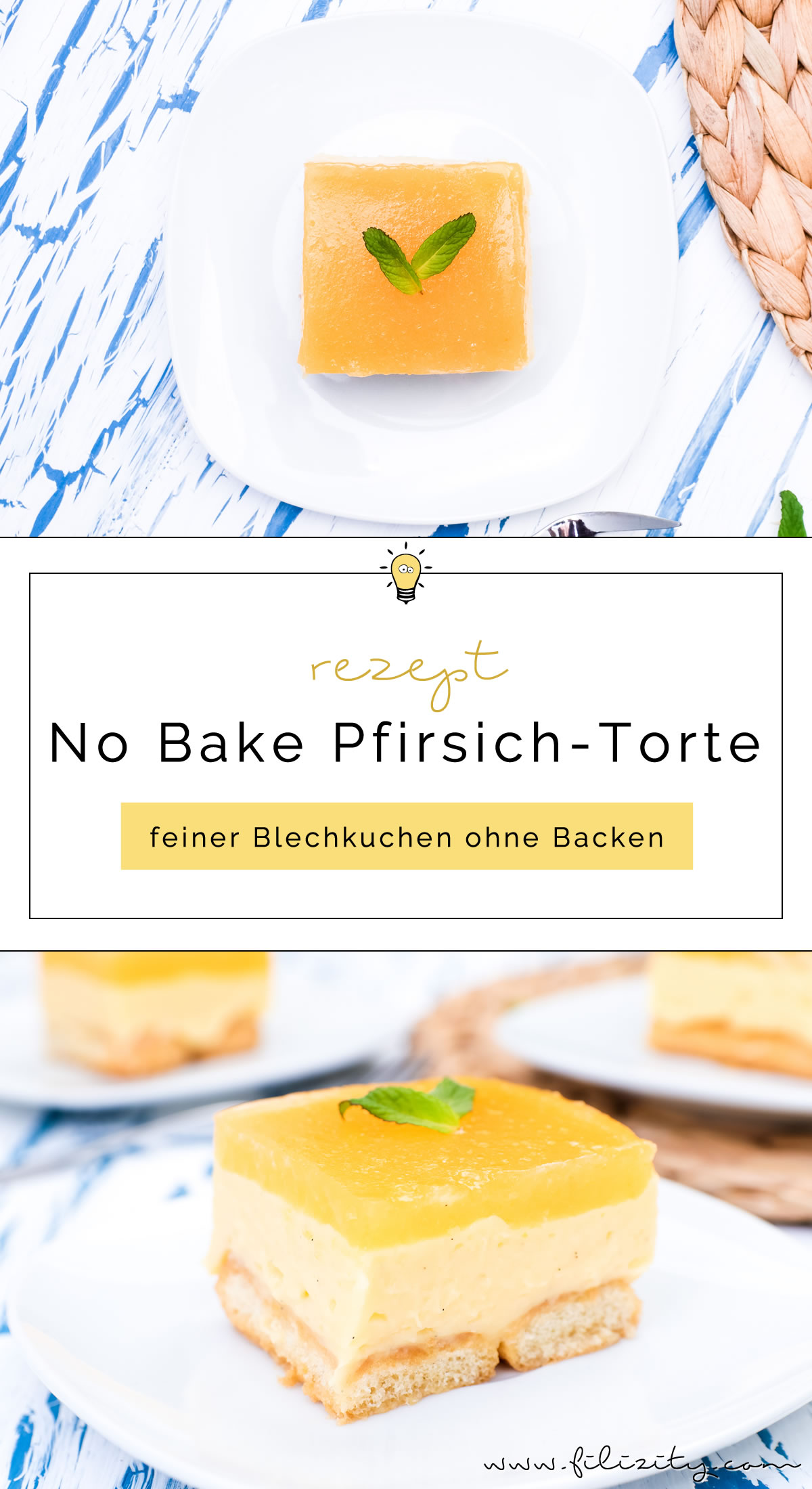 No Bake Pfirsich Vanille Torte Ohne Backen Filizity Com Food