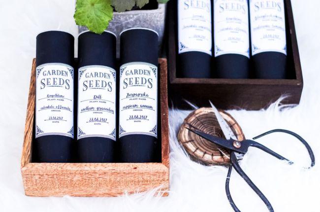 Hübsch verstaut: DIY Saatgut-Aufbewahrungsdosen