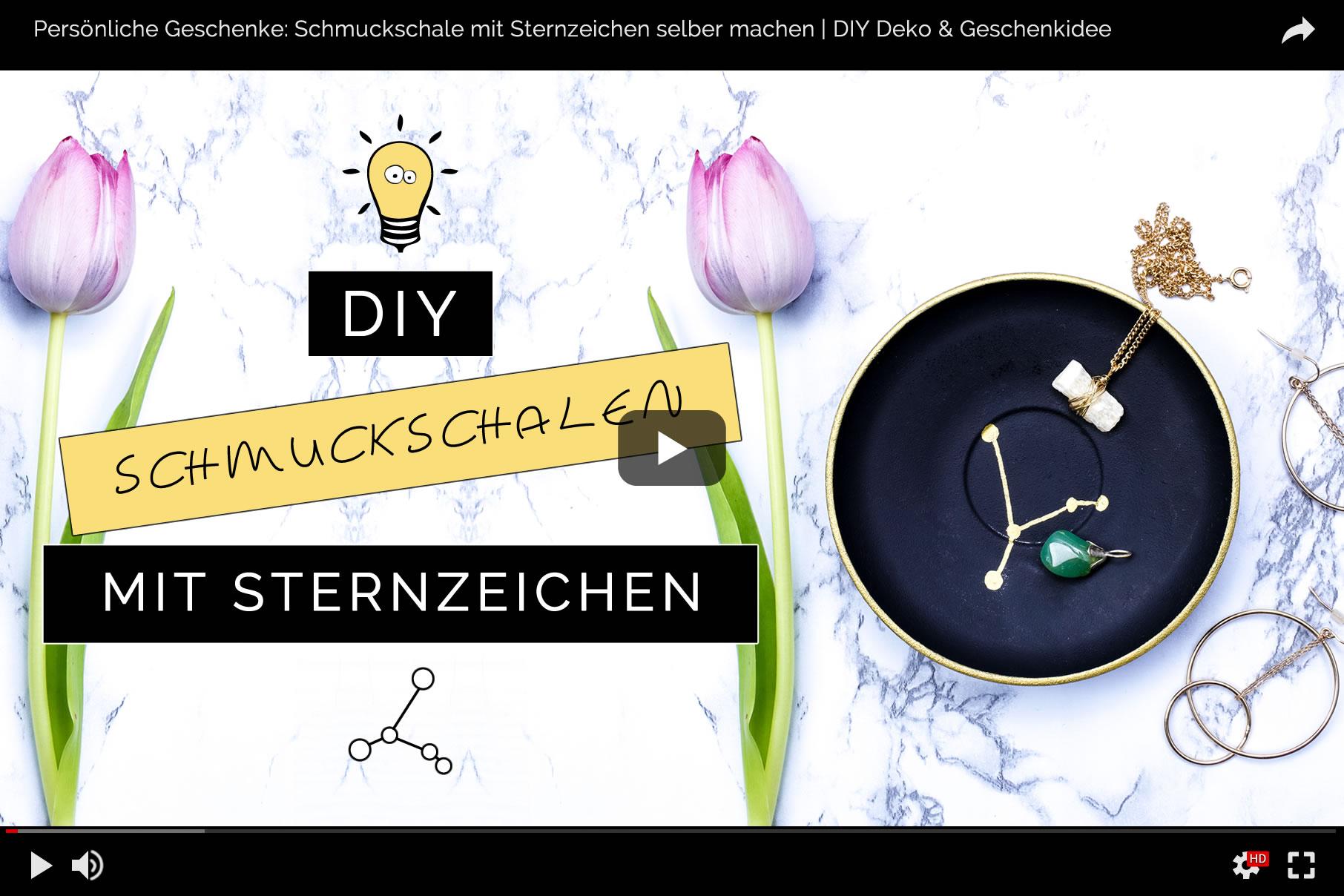DIY Deko & Persönliche Geschenkidee: Schmuckschale mit Sternzeichen selber machen | Filizity.com | DIY-Blog aus dem Rheinland #sternzeichen #geschenkidee