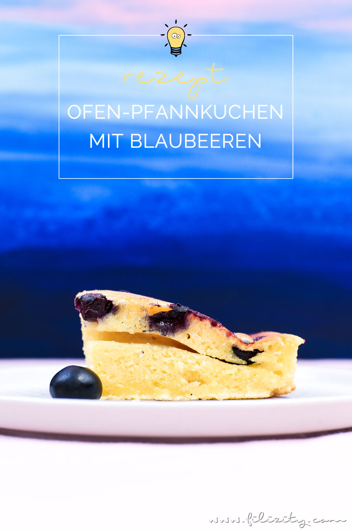 ofen pfannkuchen mit blaubeeren zum fr hst ck oder als dessert food blog aus. Black Bedroom Furniture Sets. Home Design Ideas