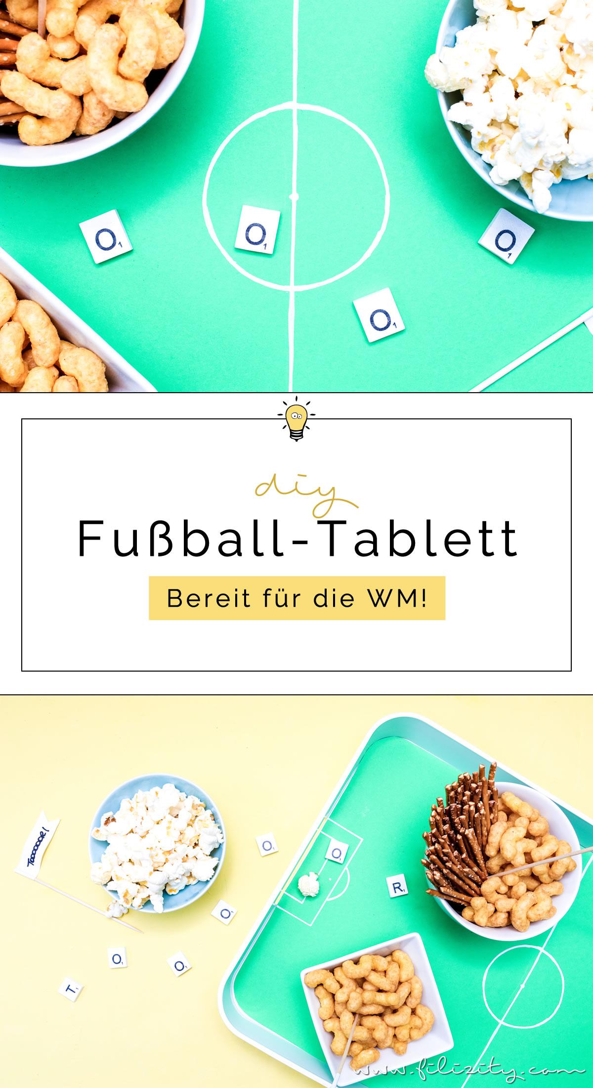DIY Fußballfeld-Tablett - Fandeko für die Fußball WM selber machen | DIY Deko für WM, EM, Bundesliga, Fußball-Party, Kindergebutstag usw. | Filizity.com | DIY-Blog aus dem Rheinland #fußball #wm2018