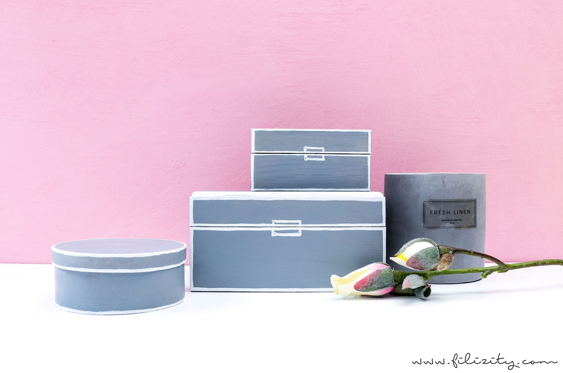 Moderne Deko selber machen: DIY Aufbewahrungsboxen