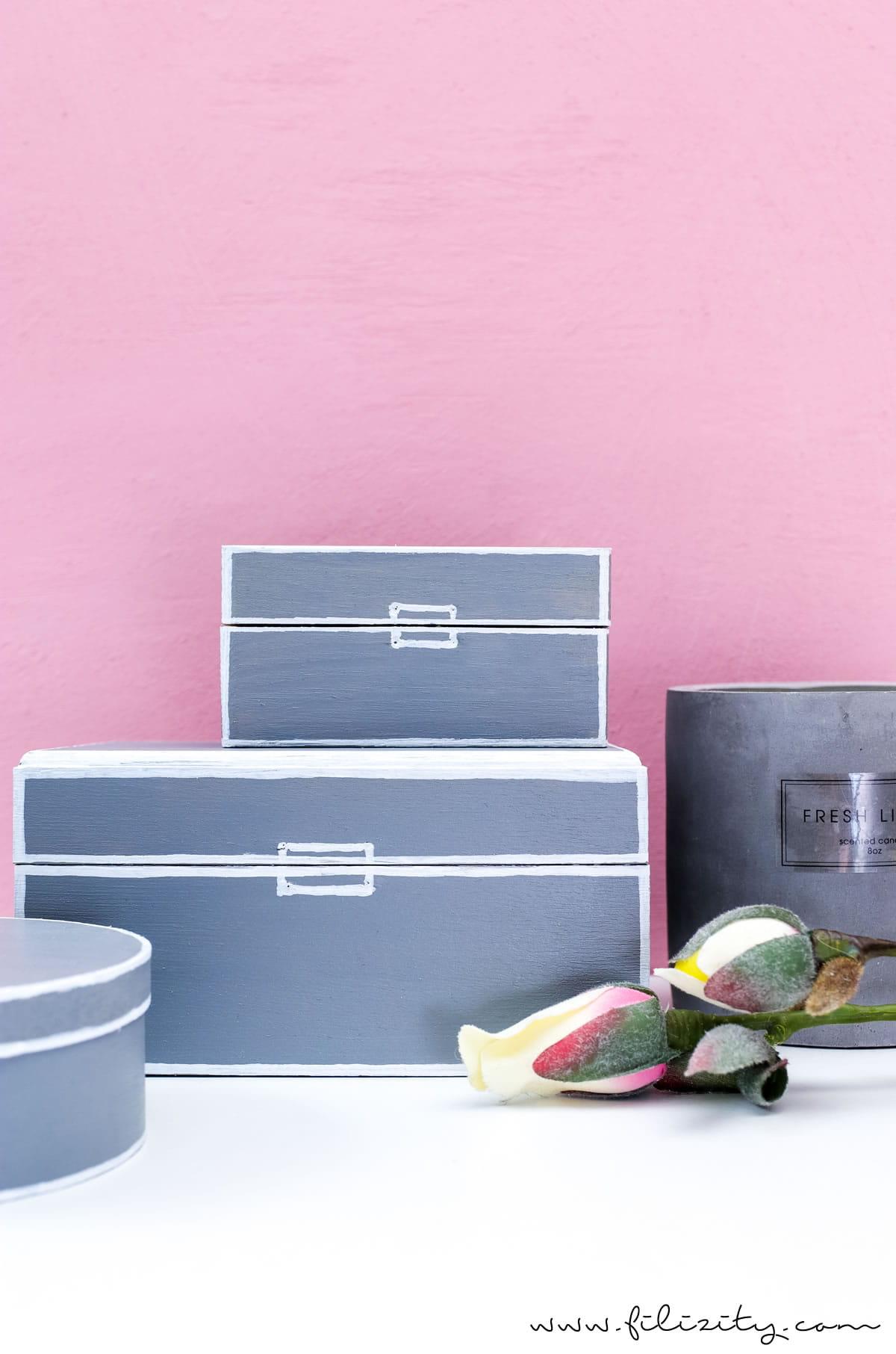 Moderne Deko selber machen: DIY Aufbewahrungsboxen aus Holzschachteln basteln   DIY Skandi-Deko   Filizity.com   Interior- & DIY-Blog aus dem Rheinland
