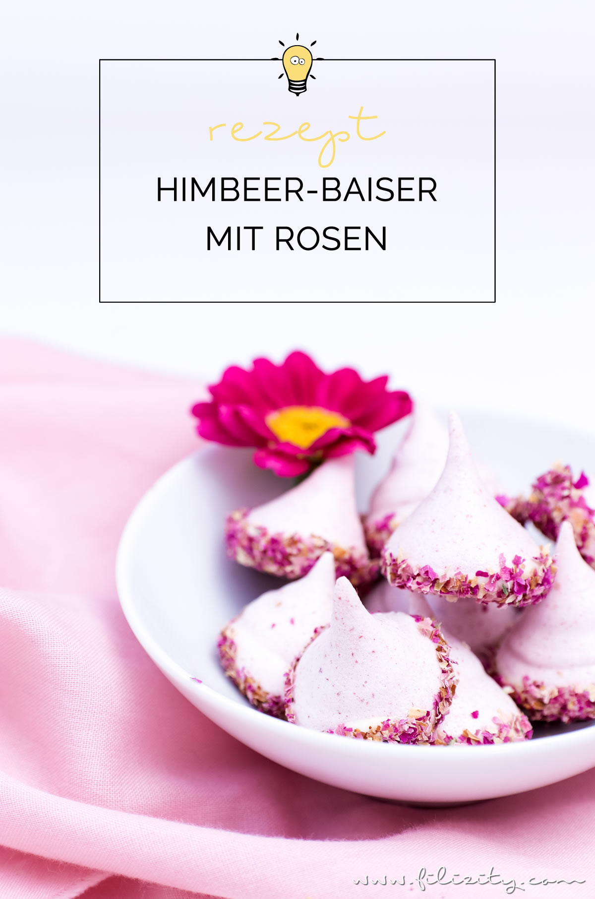 Himbeer-Baiser mit Rosen - Liebesbotschaft aus der Küche | Baiser-Rezept mit Himbeeren, weißer Schokolade und Rosen | Filizity.com | Food-Blog aus dem Rheinland #muttertag #geschenkidee #valentinstag