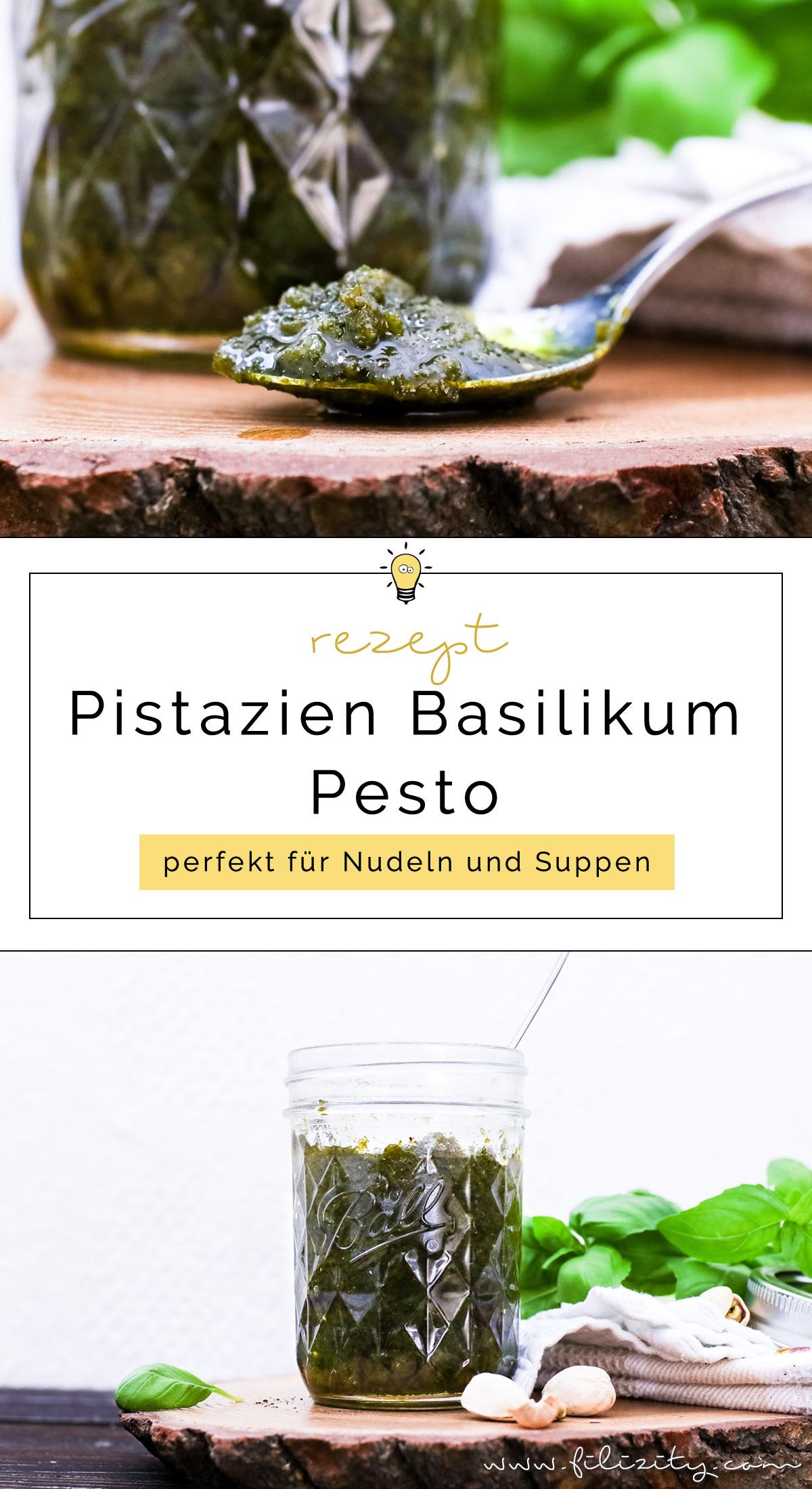 Himmlisches Pesto Rezept: Pistazien-Basilikum-Pesto selber machen | Filizity.com | Food-Blog aus dem Rheinland