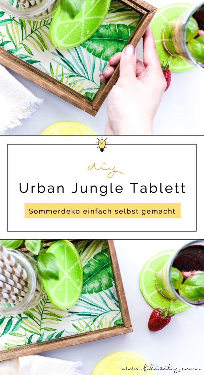 so kannst du aus einem schlichten holztablett einen hingucker machen diy holz tablett im urban. Black Bedroom Furniture Sets. Home Design Ideas