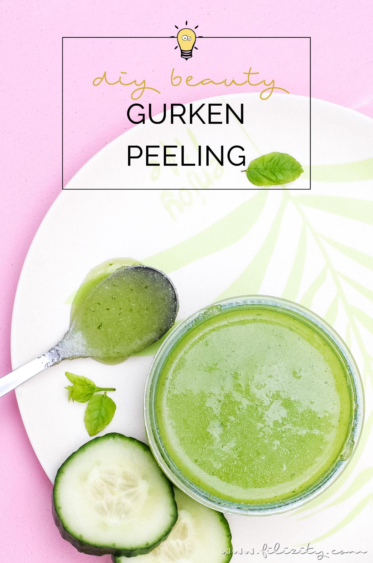 DIY Gurken-Peeling selber machen - Natürliche Hautpflege selber anmischen | Filizity.com | Beauty- & DIY-Blog aus dem Rheinland