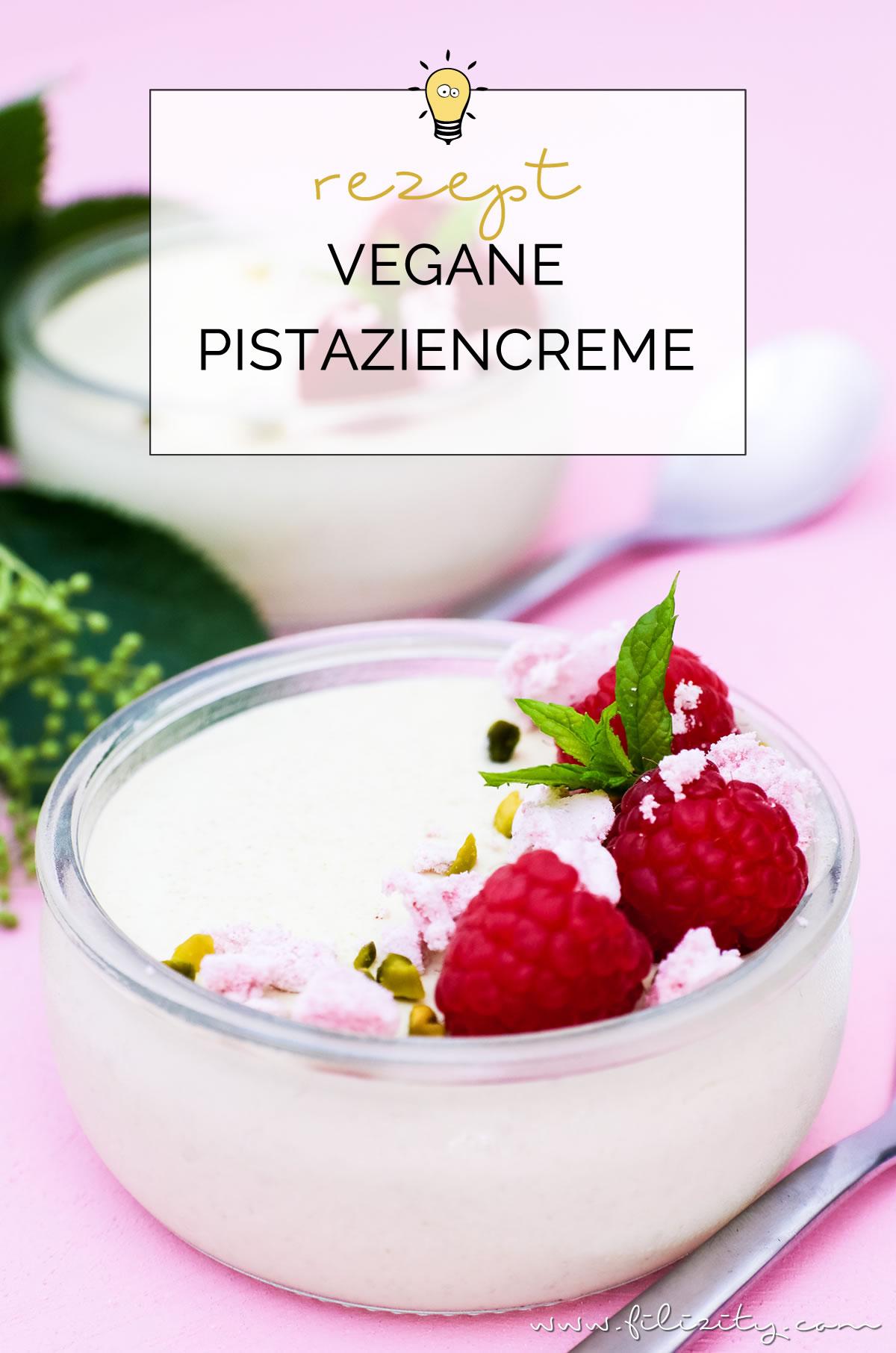 Rezept für vegane Pistaziencreme mit Himbeeren und Baiser   Perfektes Dessert-Rezept für Sommer   Filizity.com   Food-Blog aus dem Rheinland #vegan #veggie #dessert