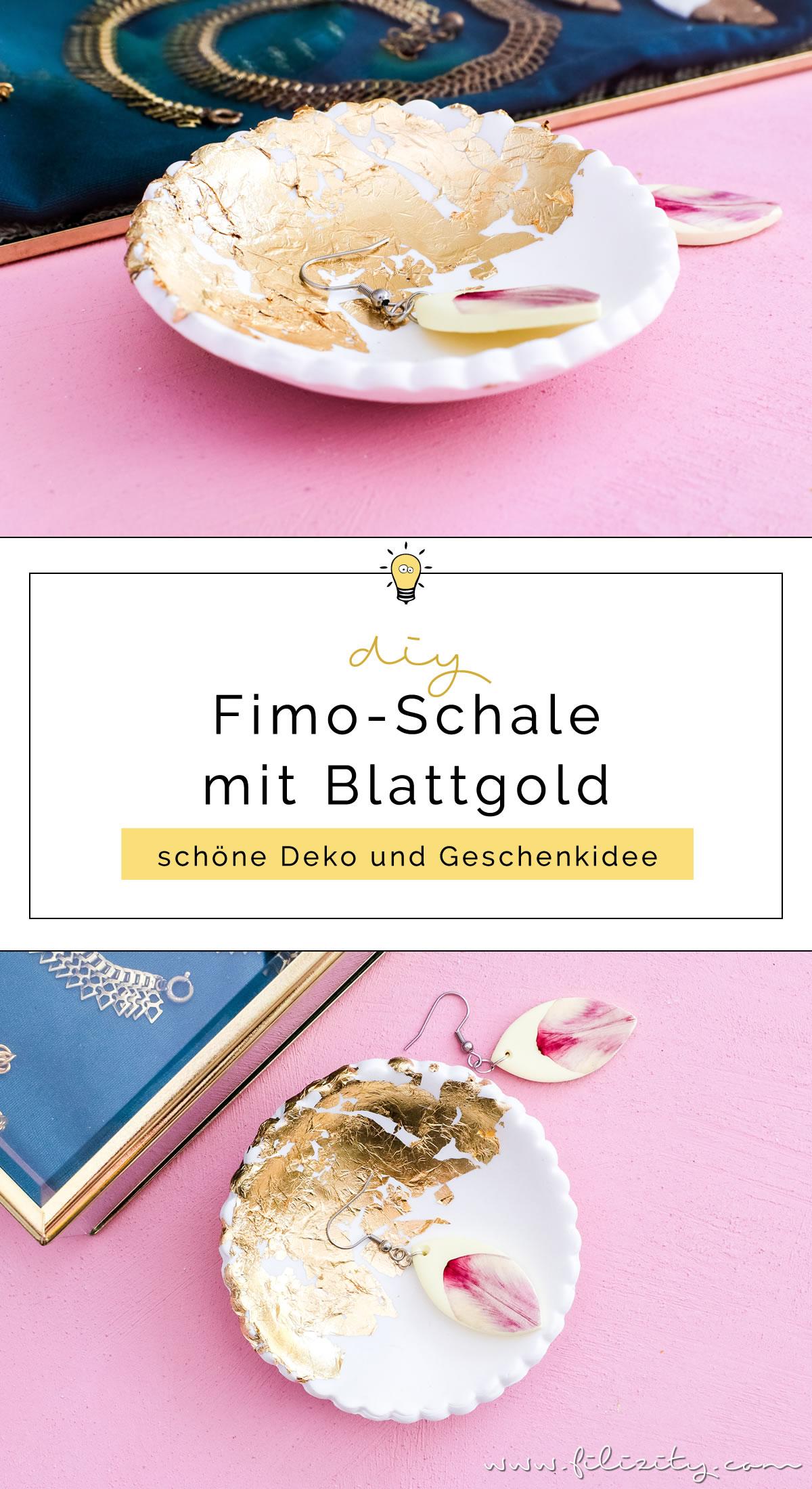 DIY Deko & DIY Geschenkidee : Fimo-Schmuckschale mit Blattgold basteln | Filizity.com | DIY-Blog aus dem Rheinland #myFimo #Fimo