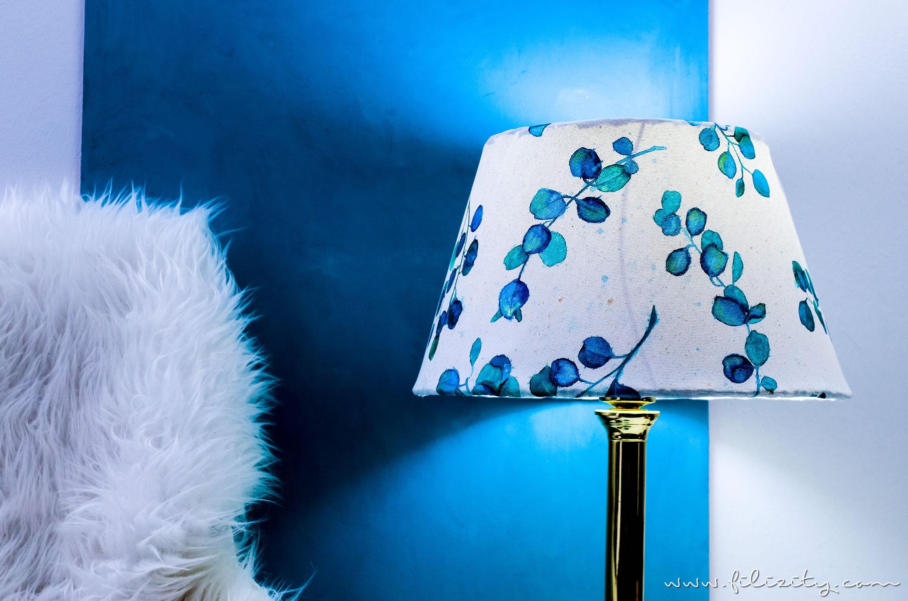 diy lampenschirm basteln aus leinwand mit aquarell diy blog aus dem rheinland. Black Bedroom Furniture Sets. Home Design Ideas