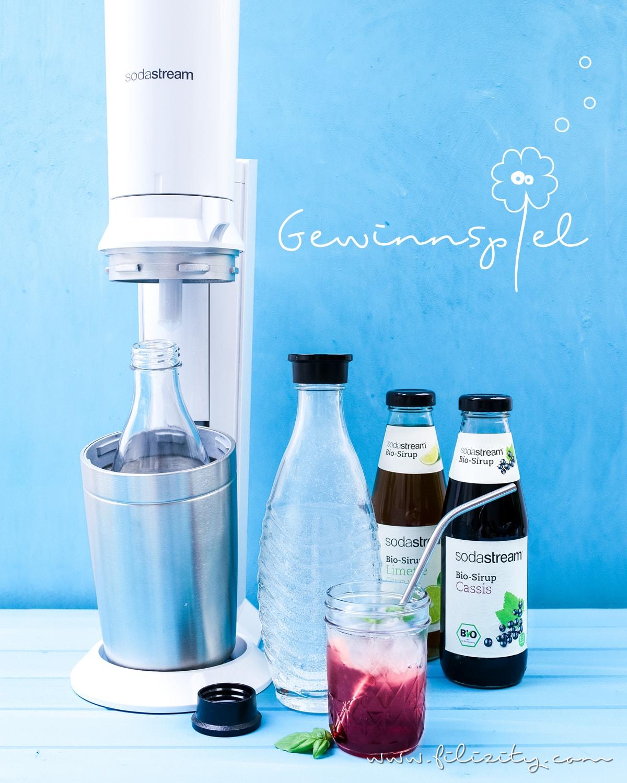 Rezept für einen leckeren Cassis-Cocktail und Instagram-Gewinnspiel mit SodaStream®