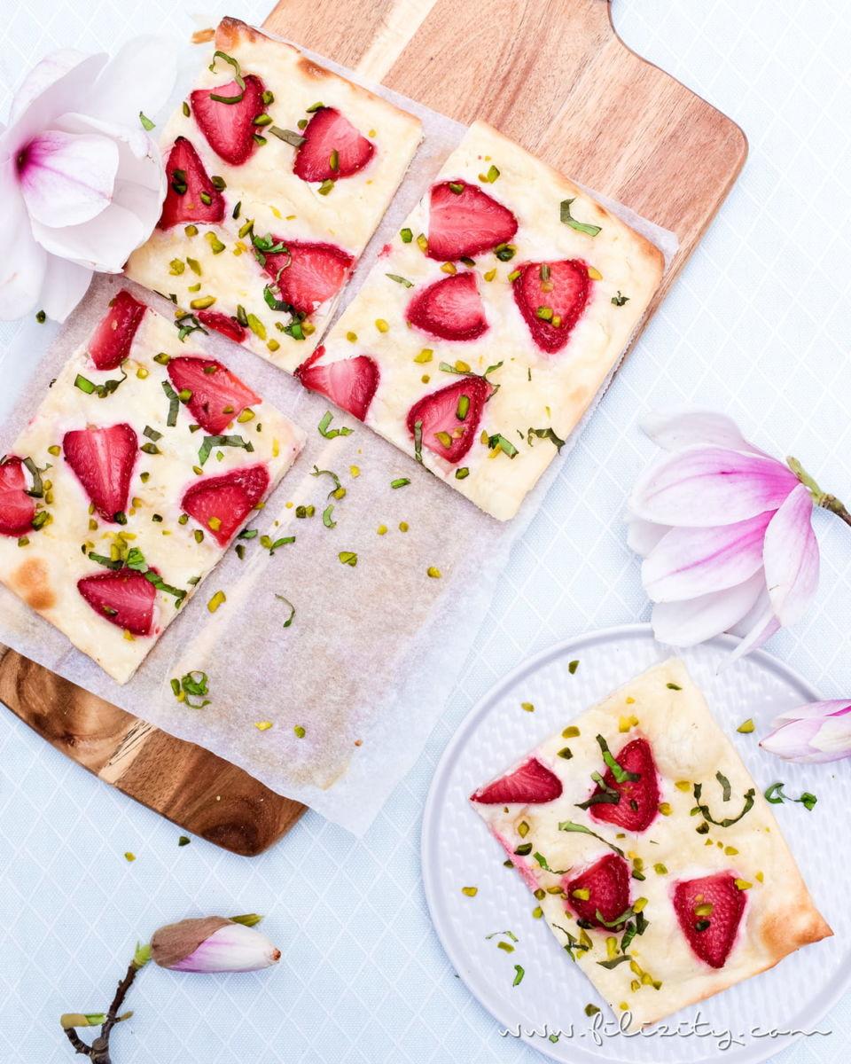Erdbeer-Flammkuchen – Sommer pur, dieses Rezept!