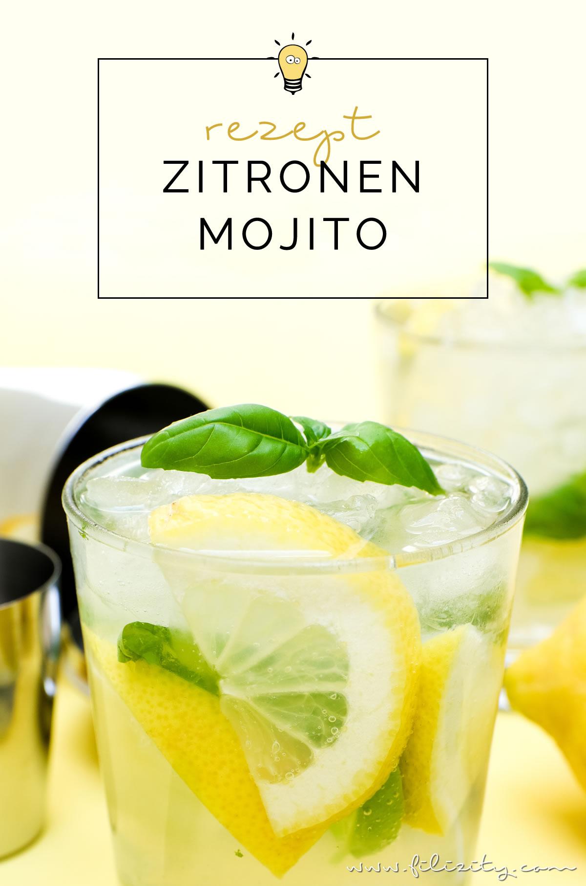 rezept f r zitronen mojito der cocktail klassiker mal anders food blog aus. Black Bedroom Furniture Sets. Home Design Ideas