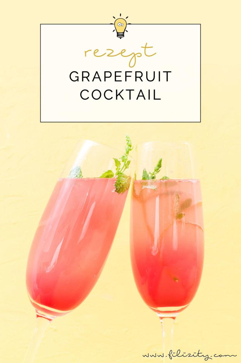 Rezept für einen Grapefruit-Cocktail mit oder ohne Alkohol | Erfrischender Sommer-Drink aus dem Slow Juicer | Filizity.com | Food-Blog aus dem Rheinland #cocktail #mocktail #sommer