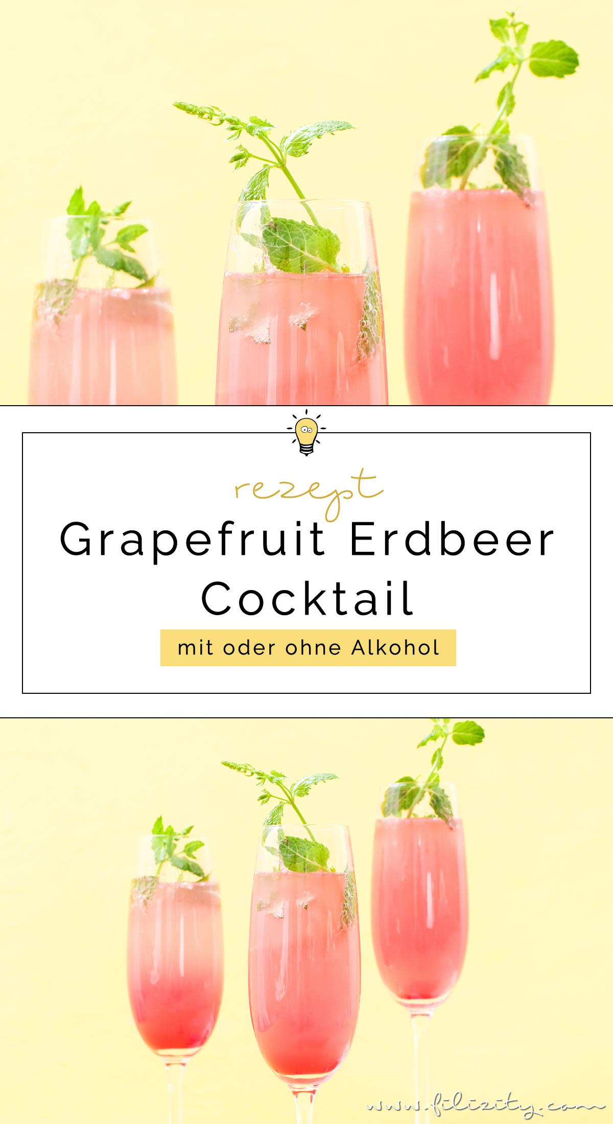 Rezept für einen Grapefruit-Cocktail mit oder ohne Alkohol   Erfrischender Sommer-Drink aus dem Slow Juicer   Filizity.com   Food-Blog aus dem Rheinland #cocktail #mocktail #sommer