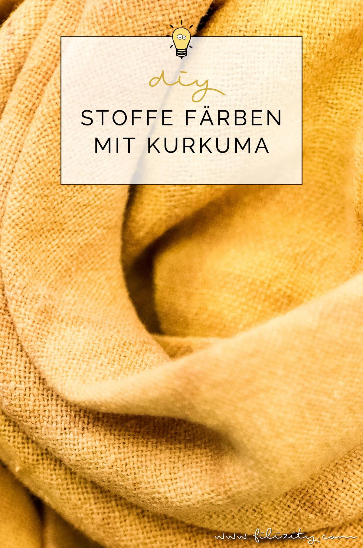 So einfach kannst du Stoffe natürlich färben - DIY Textilfarbe mit Kurkuma | Filizity.com | DIY-Blog aus dem Rheinland #diy #natur #kurkuma