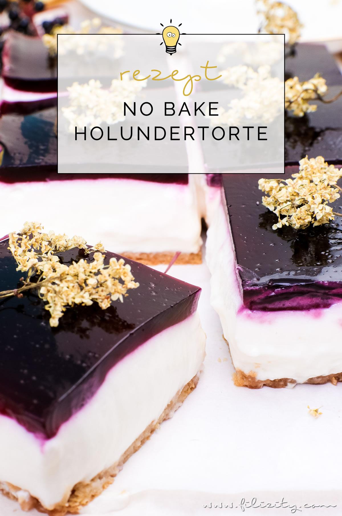 No Bake Holunderbeeren Torte Holunder Quark Schnitten Ohne Backen
