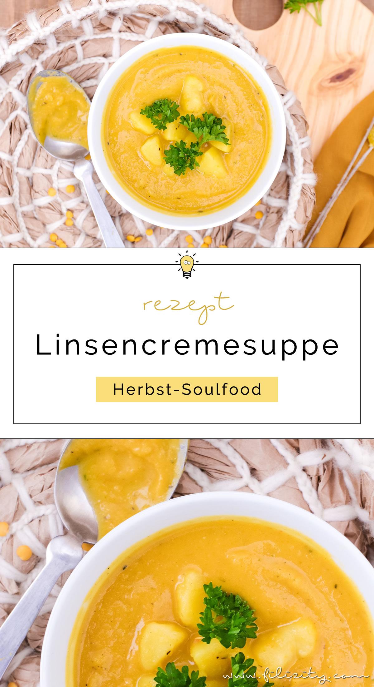 Rezept für schnelle Linsensuppe mit Kartoffeln, Karotten & Kurkuma - Echtes Herbst-Soulfood (vegan) | Filizity.com | Food-Blog aus dem Rheinland #herbst #soulfood #suppe #vegan