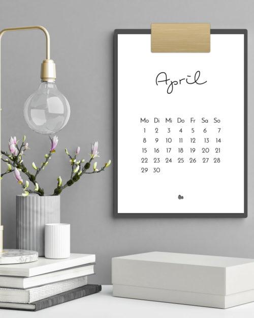 Druckvorlage für den minimalistischen Kalender 2019 - dein stylisches Wohnaccessoire | Filizity.com | Interior- & DIY-Blog und Shop #kalender #calendar #2019 #printable