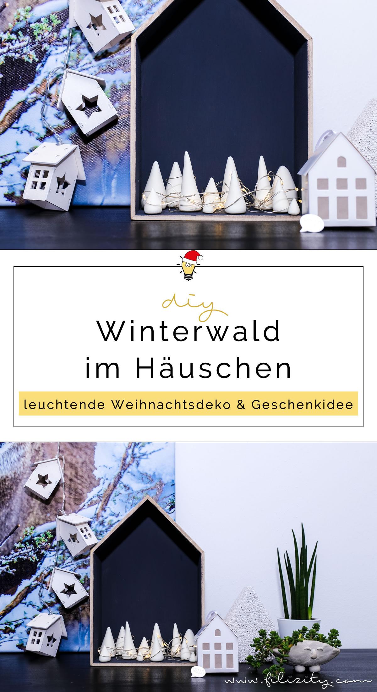 DIY Weihnachtsdeko & Geschenkidee: Leuchtenden Winterwald aus Kaltporzellan oder Fimo selber machen - So geht's | Filizity.com | DIY-Blog aus dem Rheinland #kaltporzellan #fimo #weihnachten #weihnachtdeko #weihnachtsgeschenke #geschenkideen