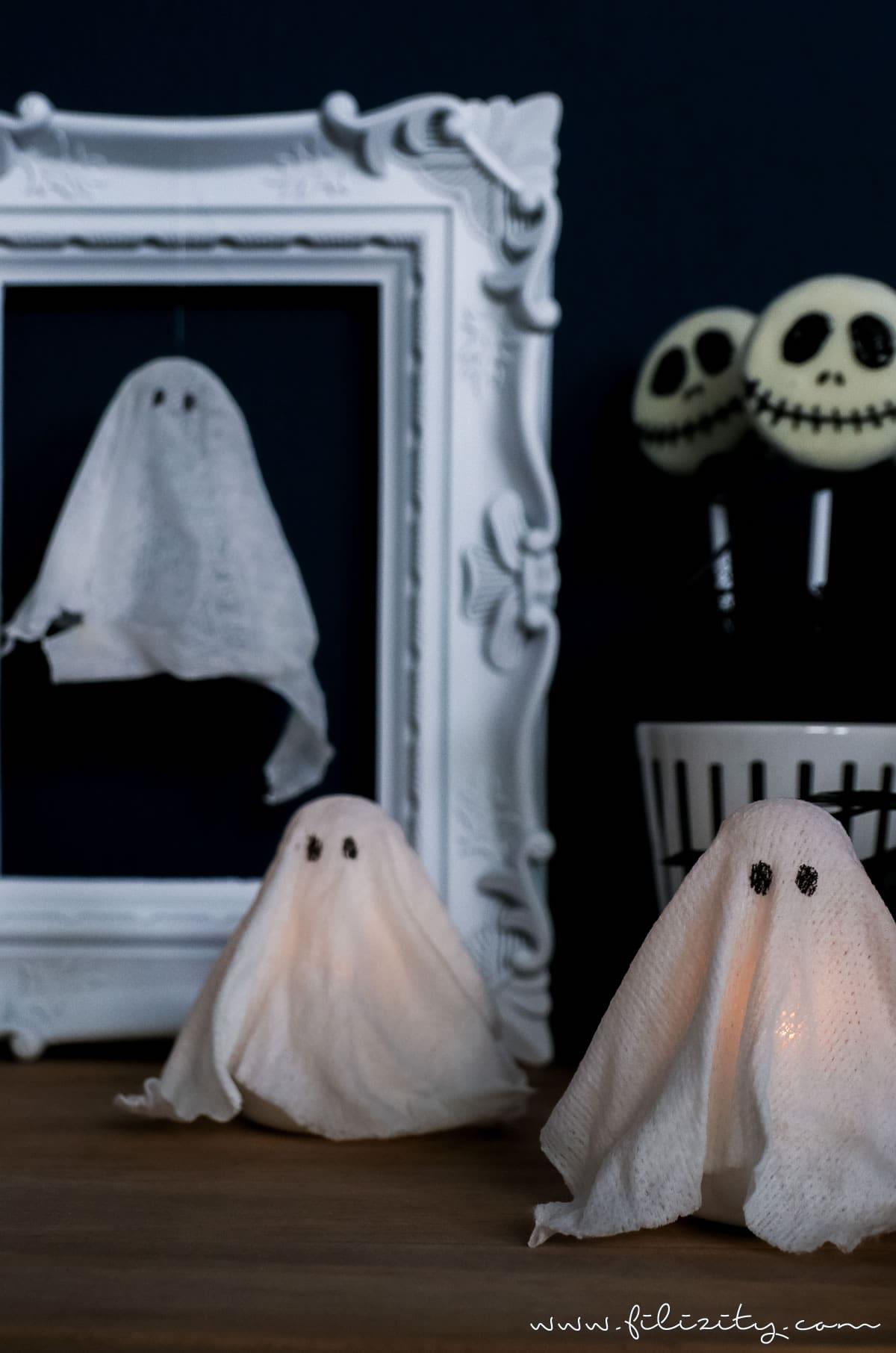 Diy Halloweendeko Selber Machen Geister Lampen Und Geister Anhanger Filizity Com Food Blog Aus Dem Rheinland