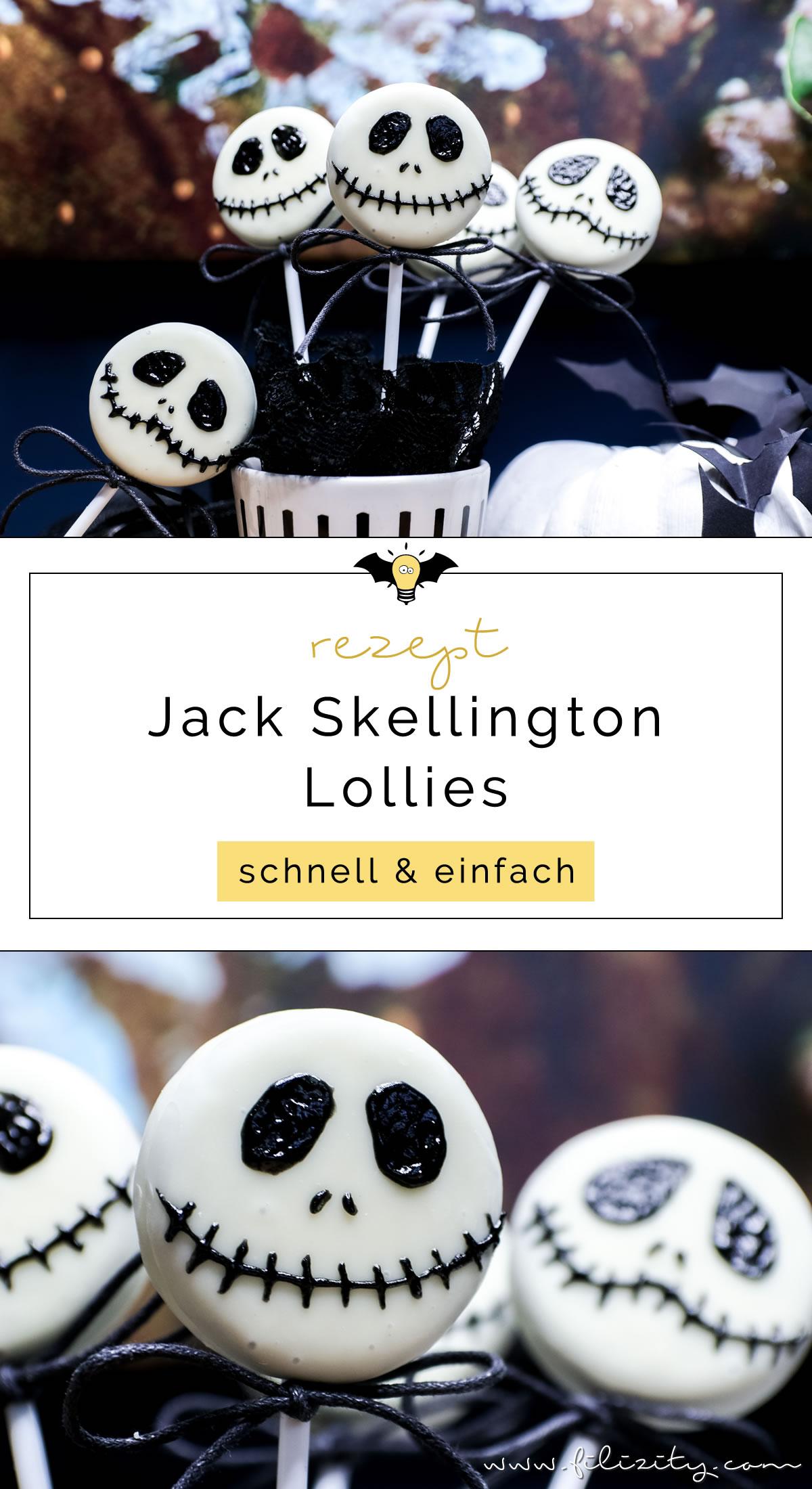 Schnelles Halloween-Rezept: Jack Skellington Keks Lollies | Filizity.com | Food-Blog aus dem Rheinland #halloween #booh #oreo #partyfood