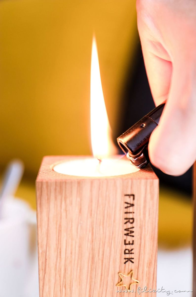 Natürlicher Diy Adventskranz Adventsteller Mit Holz