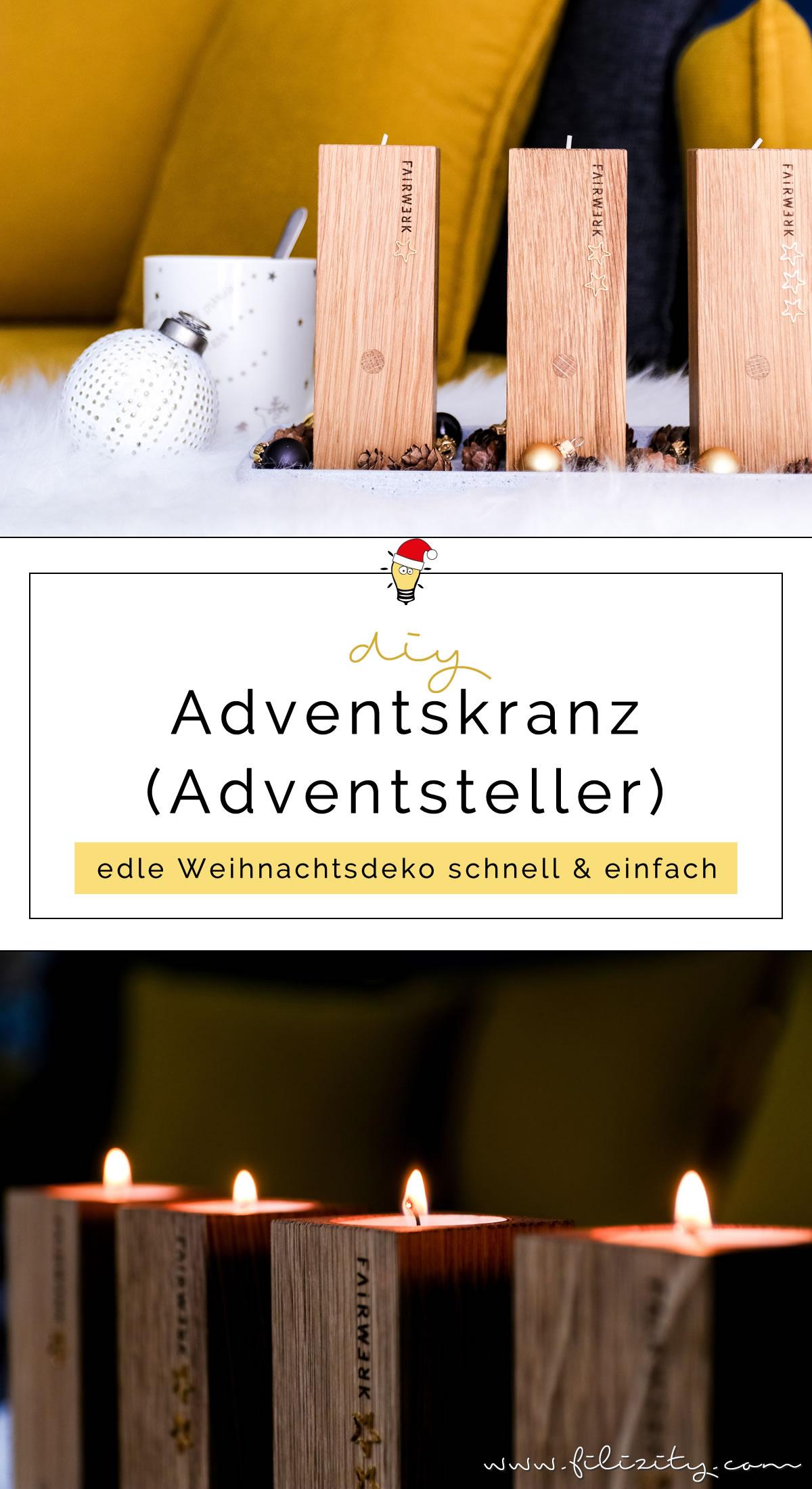 DIY Adventskranz basteln mit FAIRWERK | Natürlicher Last Minute Adventsteller | Filizity.com | DIY-Blog aus dem Rheinland #fairwerk #advent #adventskranz #weihnachten #geschenkidee