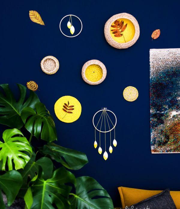 Ikea-Hack: DIY Wanddeko aus Bast-Körben