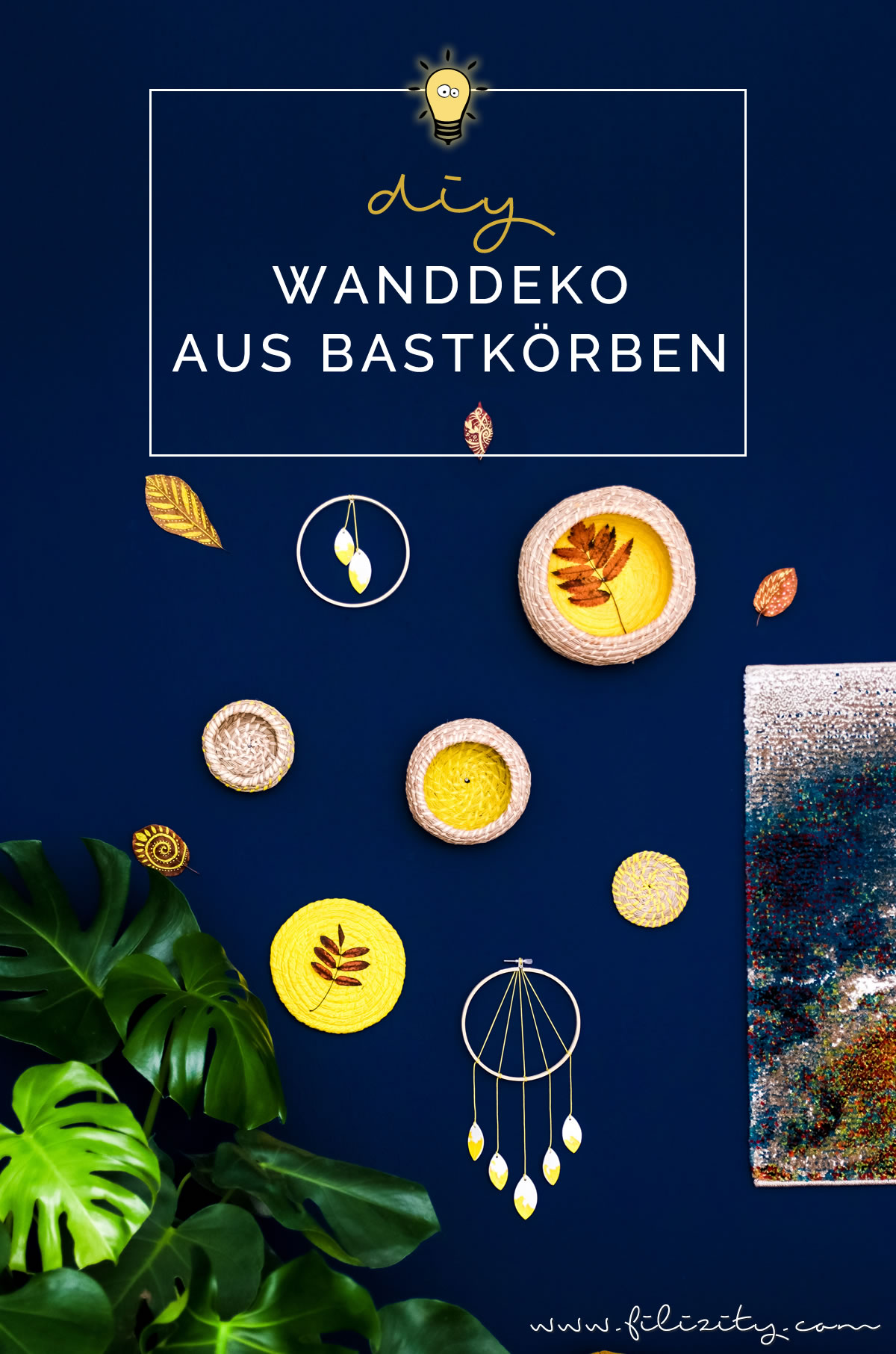 Ikea-Hack: DIY Wanddeko aus Bast-Körben basteln | Filizity.com | DIY-Blog aus dem Rheinland #herbst #deko #upcycling #ikeahack