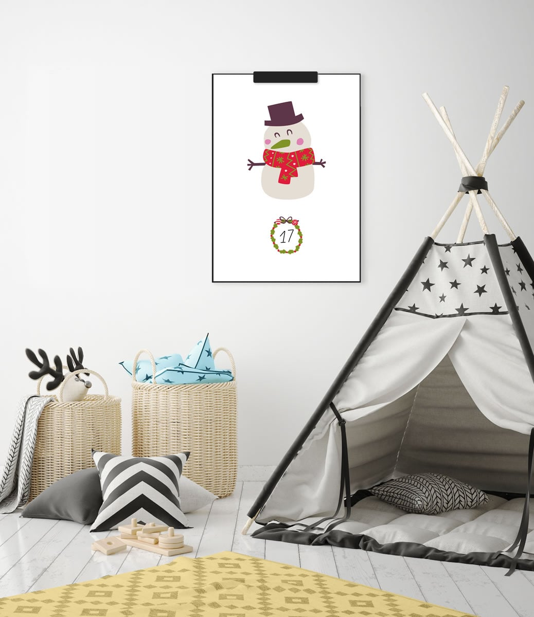 Kinder-Adventskalender mit 24 weihnachtlichen Wandbildern (Druckvorlage, A4)   Filizity.com   Interior- & DIY-Blog und Shop #printable #download #weihnachten #adventskalender