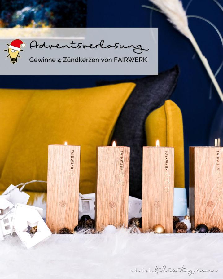 Advents-Verlosung: Gewinne 4 Holz-Teelichthalter von FAIRWERK
