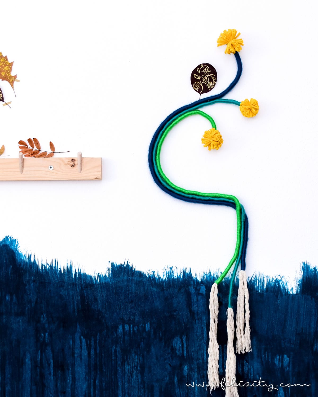DIY Wanddeko im Fiber Rainbow Stil selber machen