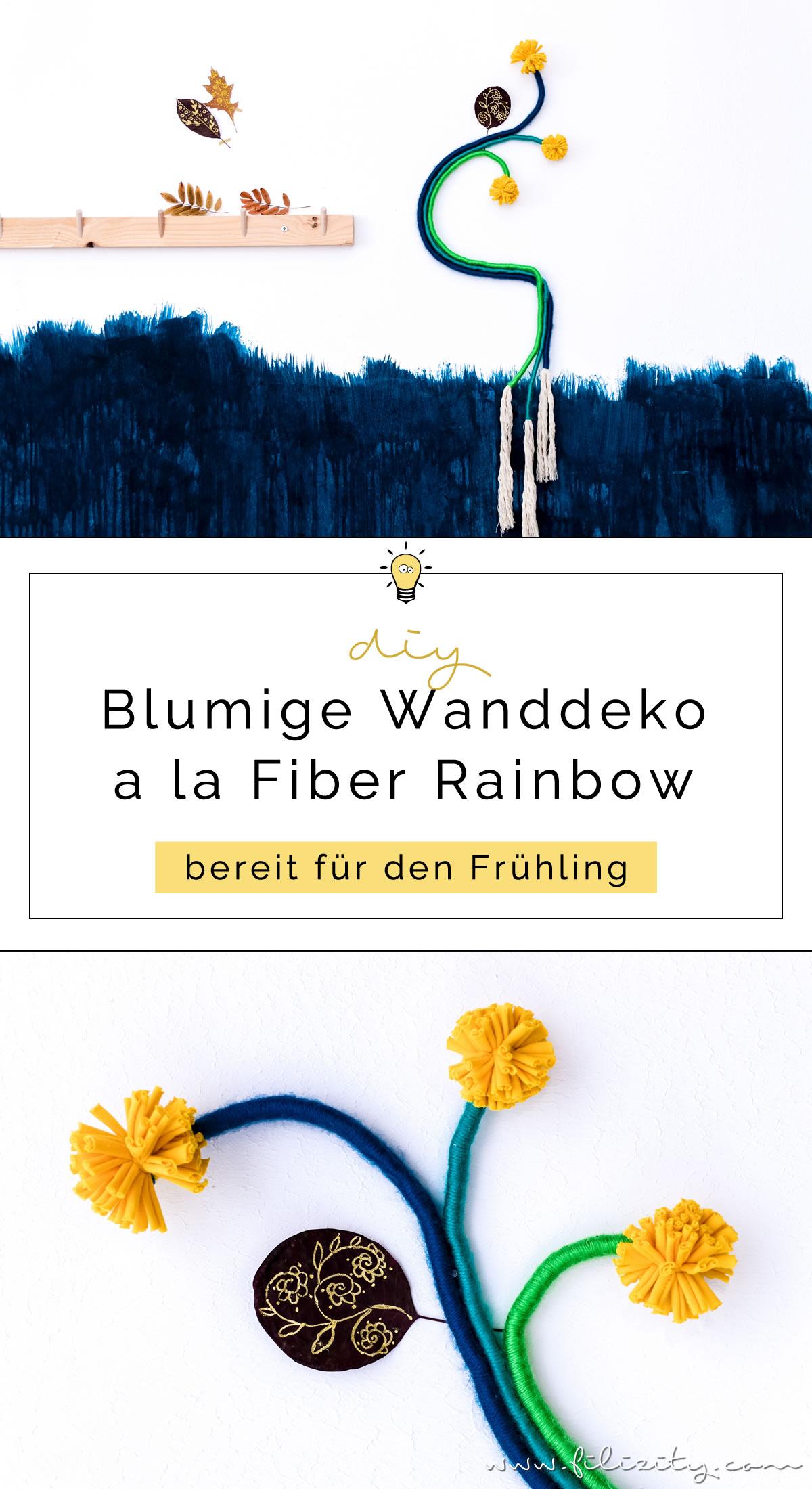 DIY Wanddeko im Fiber Rainbow Stil selber machen | Filizity.com | DIY-Blog aus dem Rheinland #fiberrainbow #rainbow #regenbogen #wolle #frühling