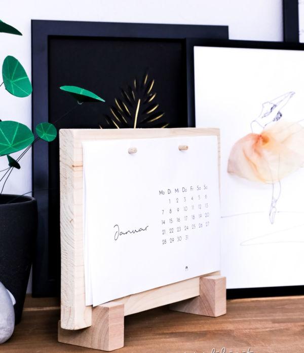 DIY Tischkalenderbrett + Minimalistischer Tischkalender 2019