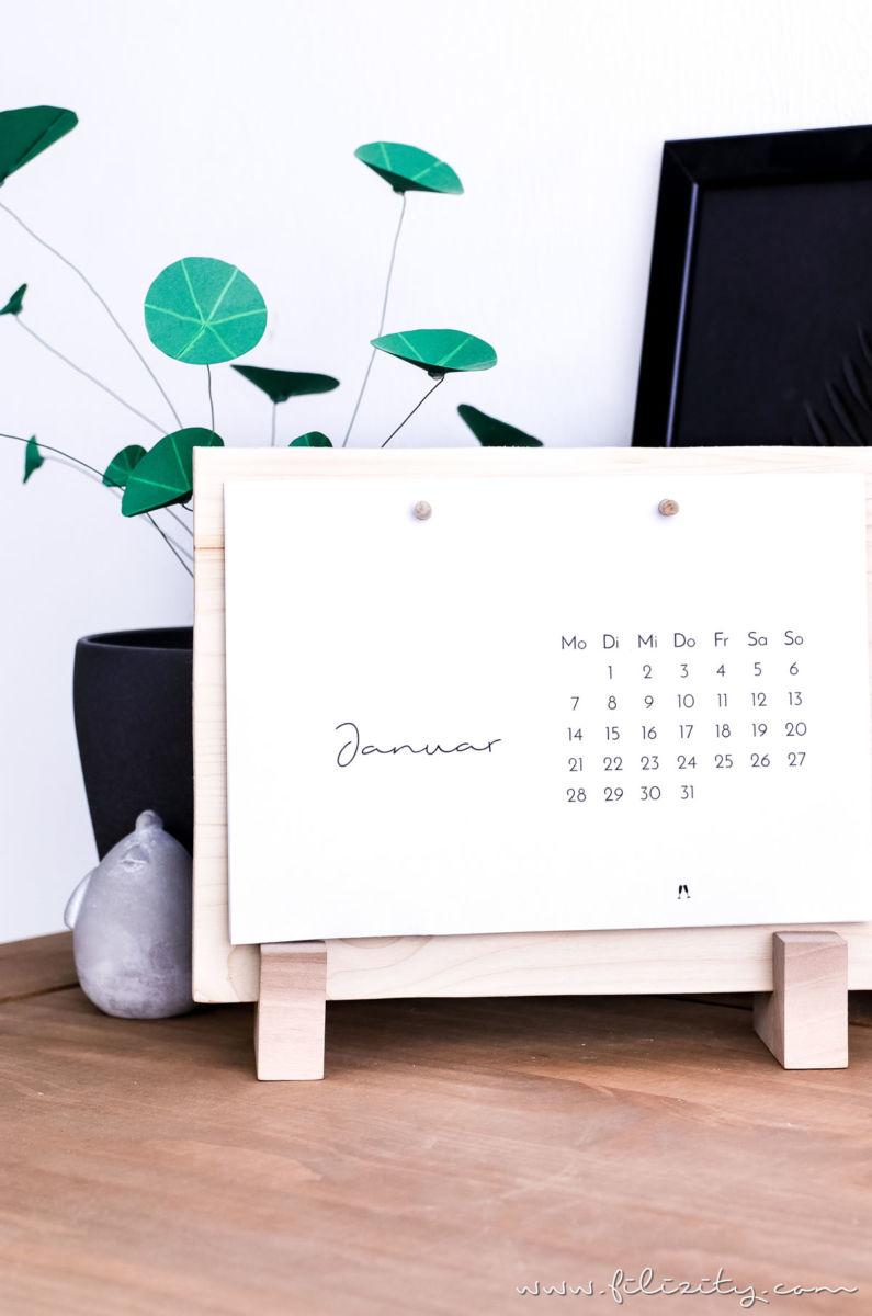 So Wird Aus Ein Paar Holzresten In 10 Minuten Ein Stylisches  Tischkalenderbrett Für Deinen Schreibtisch! DIY Anleitung + Download  Kalender 2019!