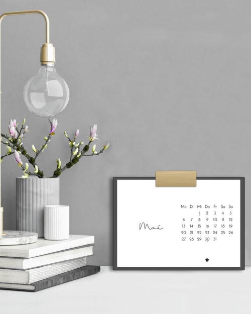 Minimalistischer Tischkalender 2019 mit Feiertagen (Druckvorlage/Printable, A5)   Stylischer Schreibtisch-Helfer & Arbeitszimmer-Deko   Filizity.com   Interior- & DIY-Blog und Shop #kalender #calendar