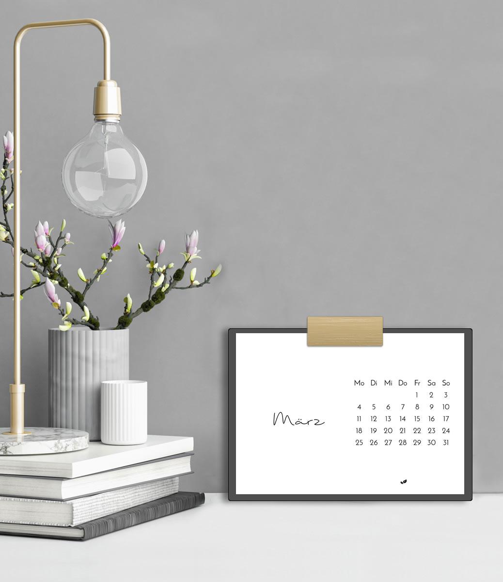 Minimalistischer Tischkalender 2019 (Druckvorlage/Printable, A5)   Stylischer Schreibtisch-Helfer & Arbeitszimmer-Deko   Filizity.com   Interior- & DIY-Blog und Shop #kalender #calendar