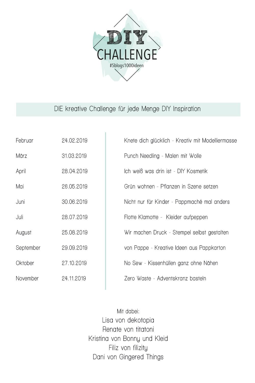 5 Blogs 1000 Ideen - Neue DIY Challenge | Filizity.com | DIY-Blog aus dem Rheinland #challenge