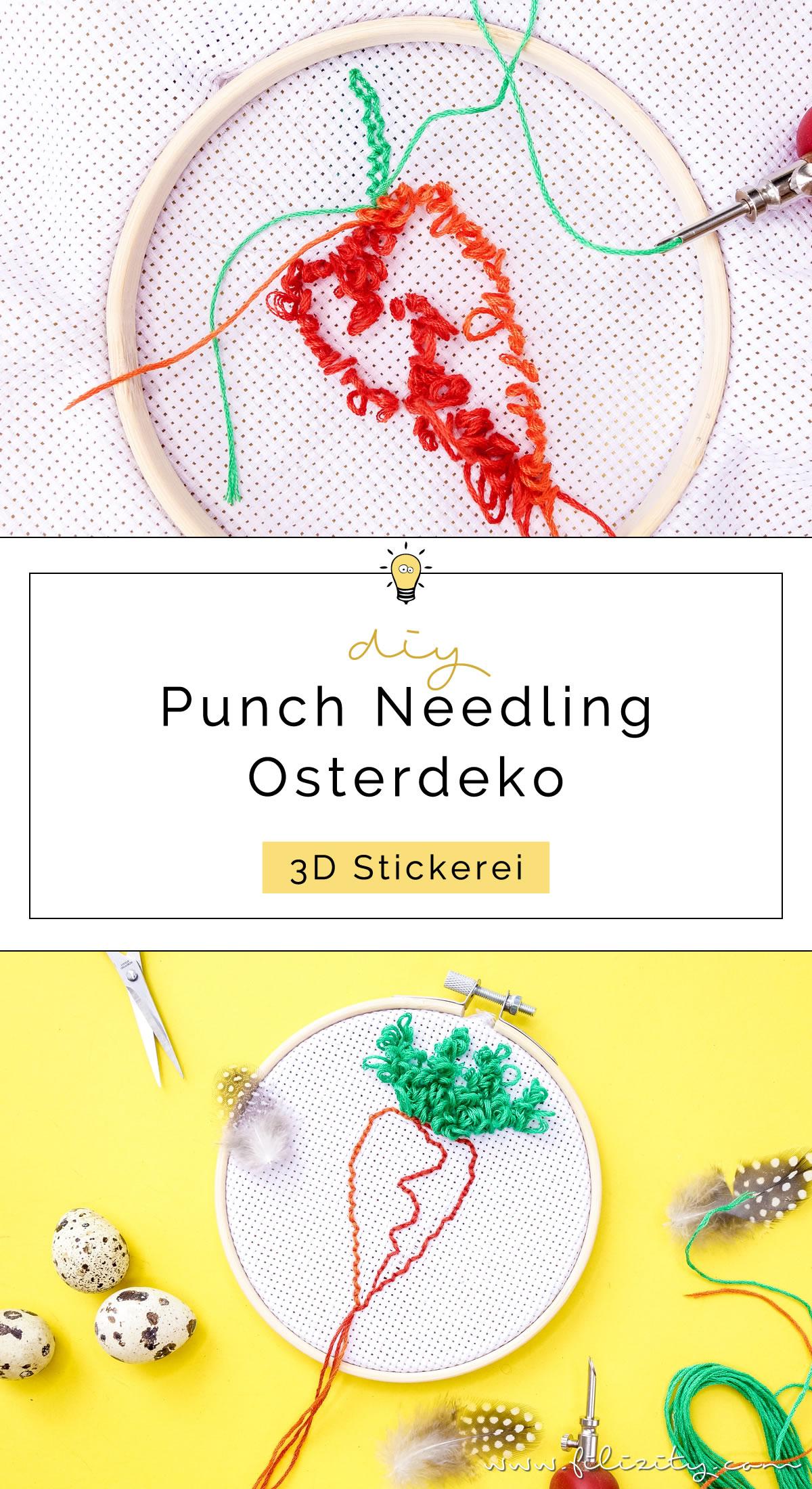 Punch Needling Kinderzimmerdeko für Ostern - 5 Blogs 1000 Ideen | Filizity.com | DIY-Blog aus dem Rheinland #punchneedling #punchneedle #osterdeko #karotte
