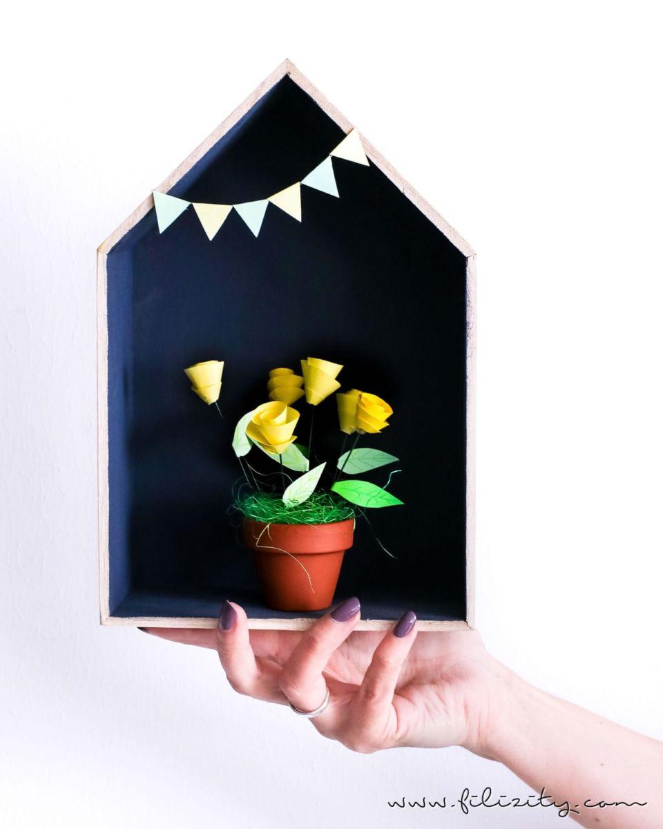 DIY Last Minute Muttertagsgeschenk Gutschein-Blumen basteln