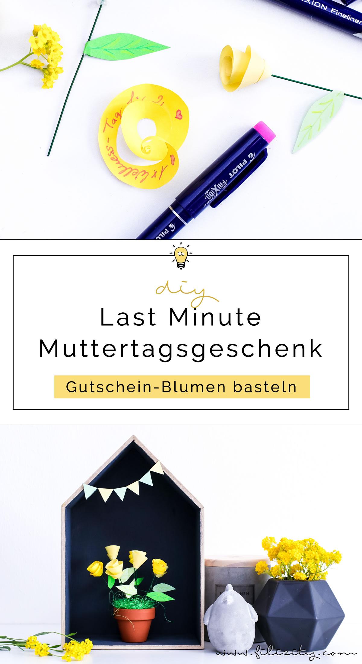 DIY Last Minute Muttertagsgeschenk Gutschein-Blumen basteln | Filizity.com - DIY-Blog aus dem Rheinland #muttertag #geschenkidee #gutschein #origami