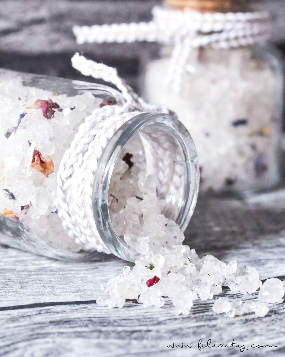 DIY Blüten-Badesalz selber machen – 5 Blogs 1000 Ideen