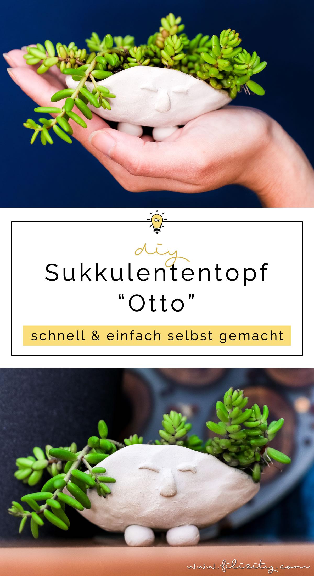 DIY Blumentopf mit Gesicht selber machen - 5 Blogs 1000 Ideen | Filizity.com - DIY Blog aus dem Rheinland #sukkulenten #fimo #urbanjungle